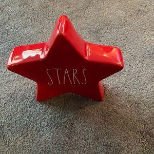 Rae Dunn Red Star Large Star
